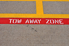 Tow away zone Stock Image