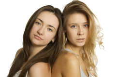 Tow beautiful young women Royalty Free Stock Image