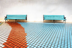 Tow benches Royalty Free Stock Images
