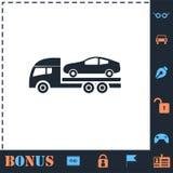 Tow car evacuation icon flat. Tow car evacuation. Perfect icon with bonus simple icons vector illustration