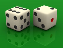 Tow Dices Royalty Free Stock Photo