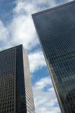 Tow modern buildings Stock Photos