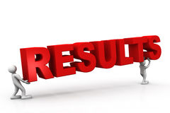 Tow people holding results Stock Photography