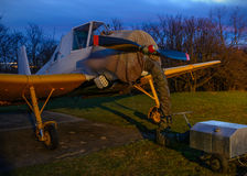 Tow plane dawn Royalty Free Stock Images