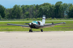 Tow Plane on Runway at Faribault Stock Photo