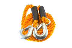 Tow rope with hooks Stock Image