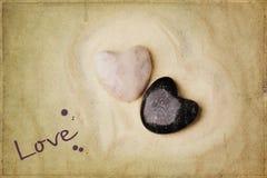 Tow stone heart Royalty Free Stock Photos