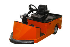 Tow tractor vehicle. Orange tug tow tractor for material handling stock image