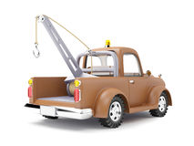 Tow truck back view Stock Images
