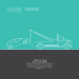 Tow truck concept Royalty Free Stock Photos