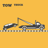 Tow truck emblem Stock Images