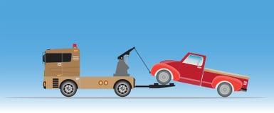 Tow Truck für Notautobewegung Lizenzfreie Abbildung