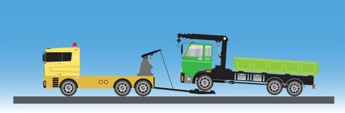 Tow Truck für Notautobewegung Stock Abbildung