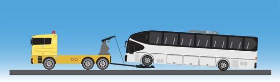Tow Truck für Notautobewegung Vektor Abbildung