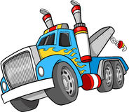 Tow Truck Illustration. Big Tow Truck Vector Illustration Stock Photo