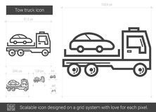 Tow truck line icon. Royalty Free Stock Photo