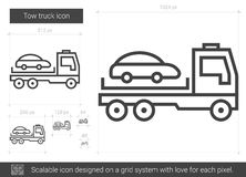 Tow truck line icon. Stock Photo