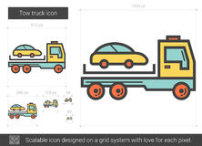 Tow truck line icon. Stock Photos