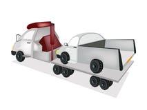 Tow Truck Loading une voiture après un accident illustration stock