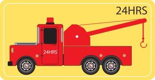 Tow Truck pour le mouvement de voiture de secours Image libre de droits