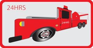 Tow Truck pour le mouvement de voiture de secours Photos libres de droits