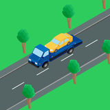 A tow truck on the road Royalty Free Stock Image