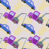 Tow truck seamless background design Stock Photos