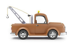 Tow truck side view Royalty Free Stock Image