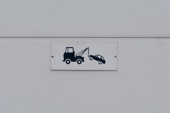 Tow truck sign Stock Photography