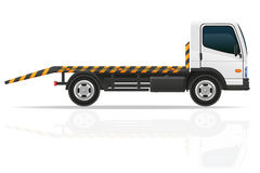 Tow truck for transportation faults and emergency cars vector il Royalty Free Stock Images