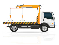 Tow truck for transportation faults and emergency cars vector il Stock Photo