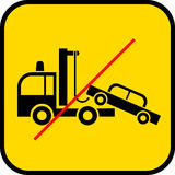 Tow truck use prohibited Stock Photo