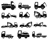 Tow vehicles icons set Royalty Free Stock Photo