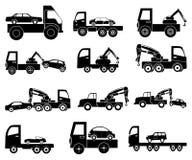 Tow vehicles icons set Royalty Free Stock Photo