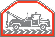 Tow Wrecker Truck Side Retro Royalty Free Stock Images