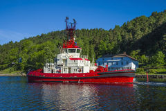 The towage of mv north sea giant has started Stock Photos