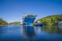 The towage of mv north sea giant has started Royalty Free Stock Photo