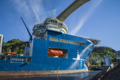 The towage of mv north sea giant has started Stock Photo