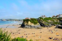 Towan beach, Newquay. Towan beach at Newquay in Cornwall on a sunny day Royalty Free Stock Photo