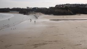 Towan beach Newquay North Cornwall England UK stock video footage