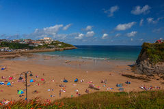Towan beach, Newquay Royalty Free Stock Images