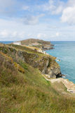 Towan Head Beacon Cove Newquay Cornwall England UK Royalty Free Stock Images