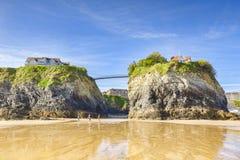 Towan-Strand Newquay Cornwall Großbritannien stockfotografie