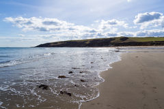 Towan strand Cornwall Royaltyfri Foto