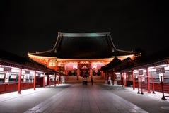Toward Asakusa Temple in Tokyo at night. The road that lead to the Sensoji temple in Asakusa Stock Photography