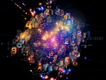 Toward Digital Network Royalty Free Stock Images