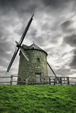 Toward the wind. Windmill detail on a stromy day, high density range image Royalty Free Stock Photos