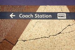 Towards coach station Stock Photo