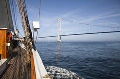 Towards the Great Belt Bridge. Stock Image