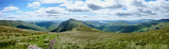 Towards Kentmere, panoramic Stock Image